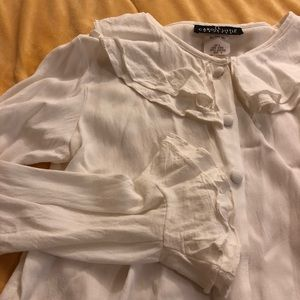 Vintage Bell Sleeve White Blouse